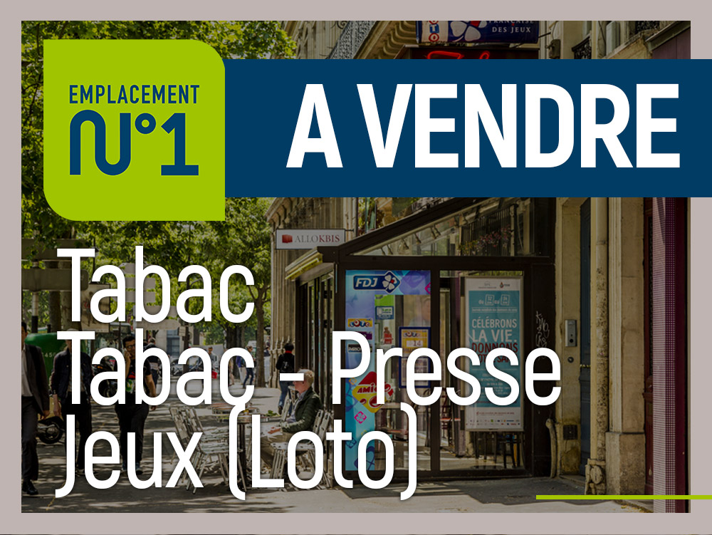 Tabac presse FDJ centre ville emplacement N°1 - Tabac Loto Presse